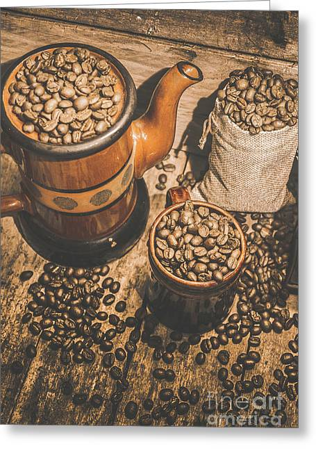 Old Coffee Brew House Beans Greeting Card by Jorgo Photography - Wall Art Gallery