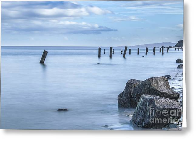Old Colwyn Groynes  Greeting Card by Chris Evans
