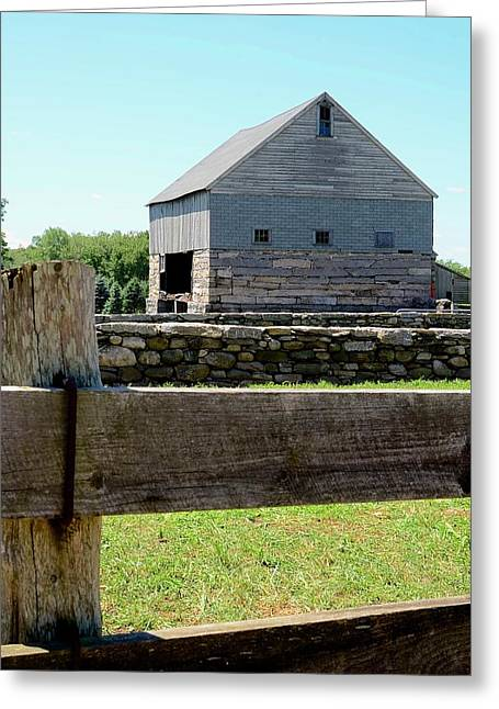 Old Connecticut Barn Greeting Card