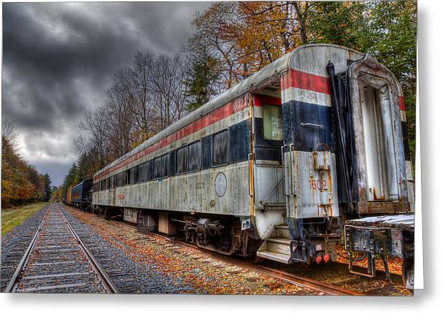 Old Connecticut Department Of Transportation Rail Car Greeting Card