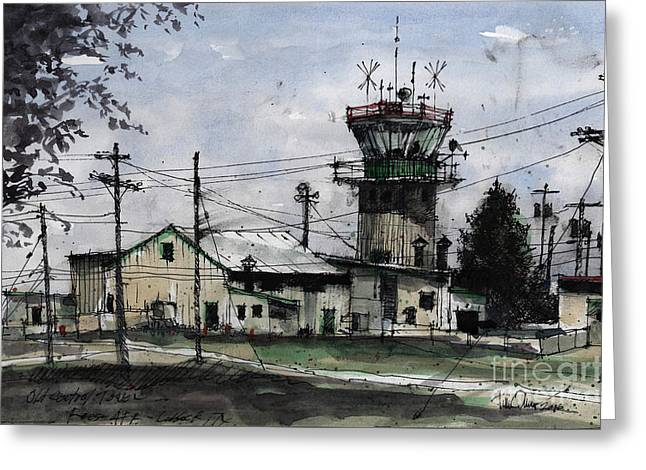 Old Control Tower At Reese Afb Greeting Card