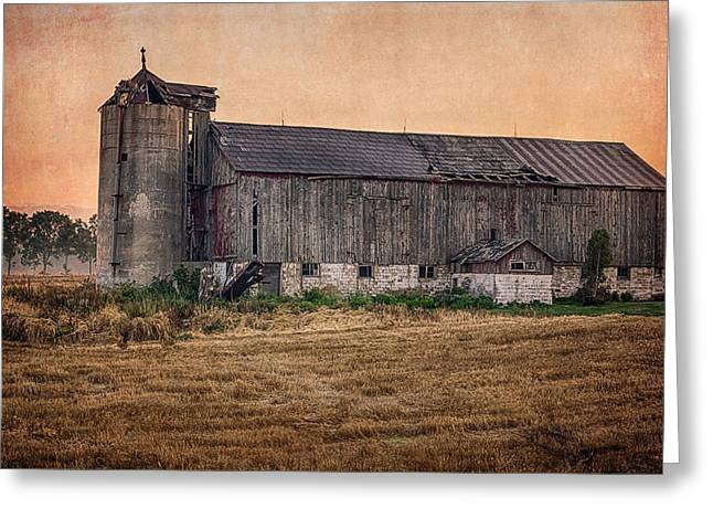 Greeting Card featuring the photograph Old Country Barn by Garvin Hunter