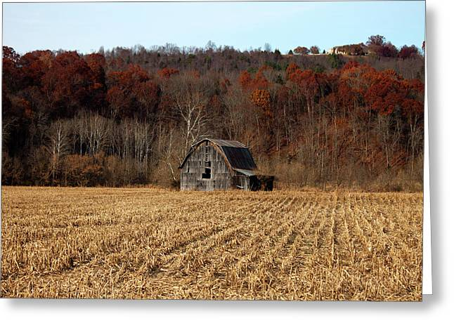 Old Country Barn In Autumn #1 Greeting Card by Jeff Severson