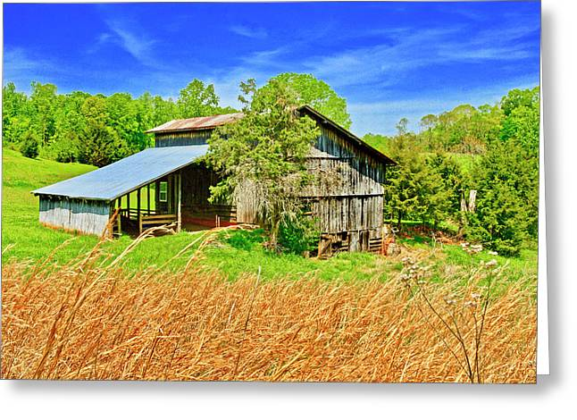 Old Country Barn Greeting Card