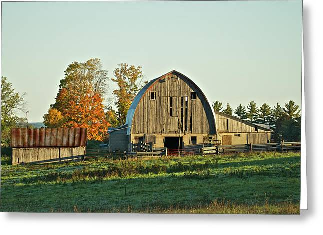 Old Country Barn_9302 Greeting Card