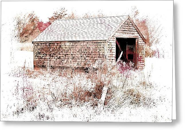 Old Country Building Greeting Card by Marcia Lee Jones
