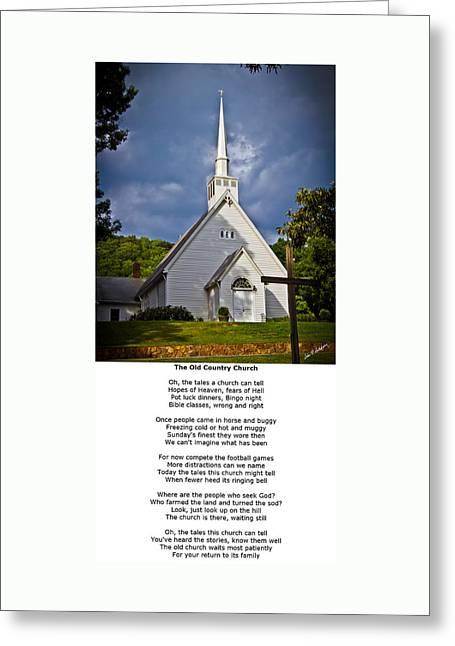 Old Country Church Greeting Card by John Haldane