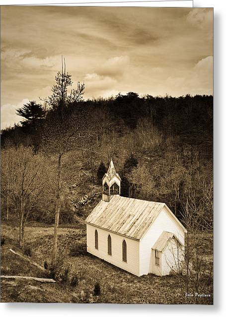 Old Country Church Greeting Card by John Pagliuca