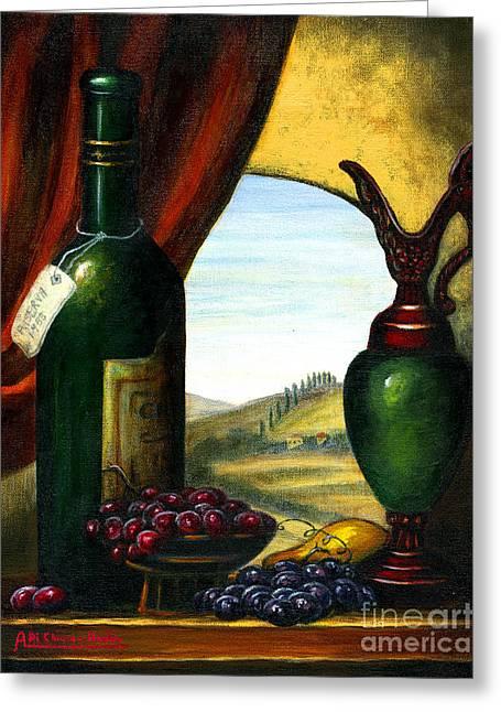 Old Country Feeling II- Wine Greeting Card