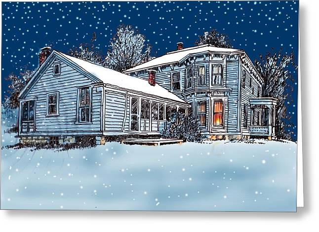 Old Country Home Greeting Card