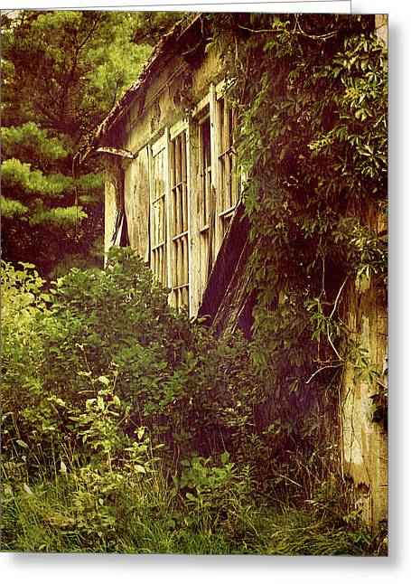 Country Schools Digital Greeting Cards - Old Country Schoolhouse. Greeting Card by Kelly Nelson