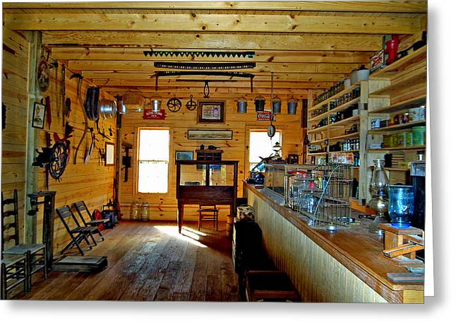 Old Country Store Greeting Card by Ralph  Perdomo