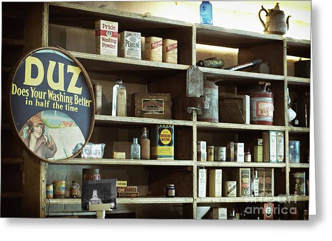 Old Country Store Shelves Greeting Card
