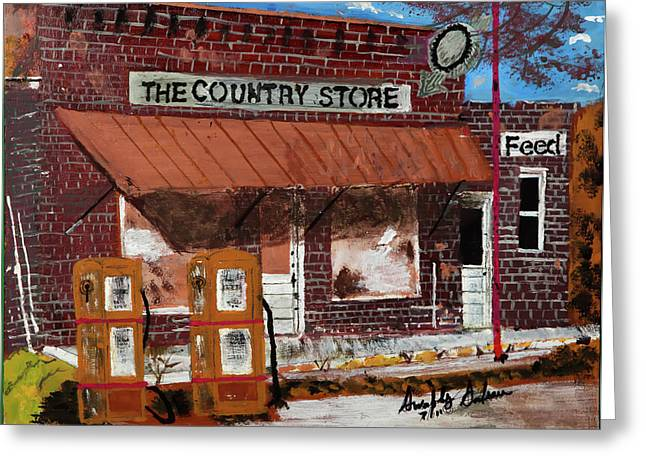 Old Country Store Greeting Card