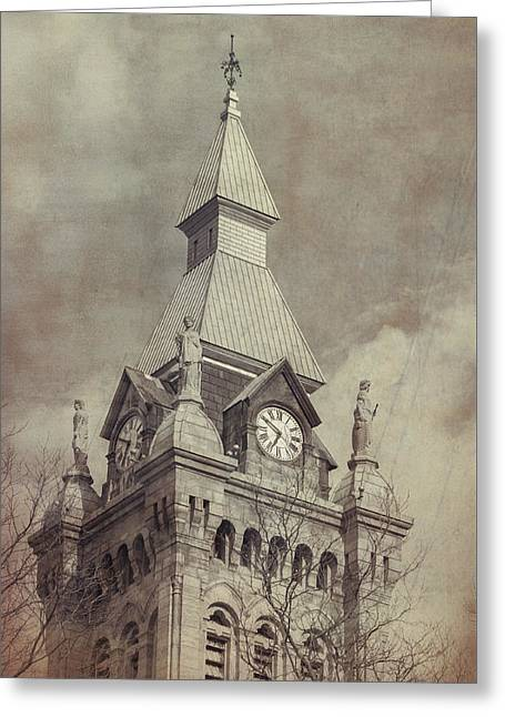 Old County Hall Greeting Card by Guy Whiteley