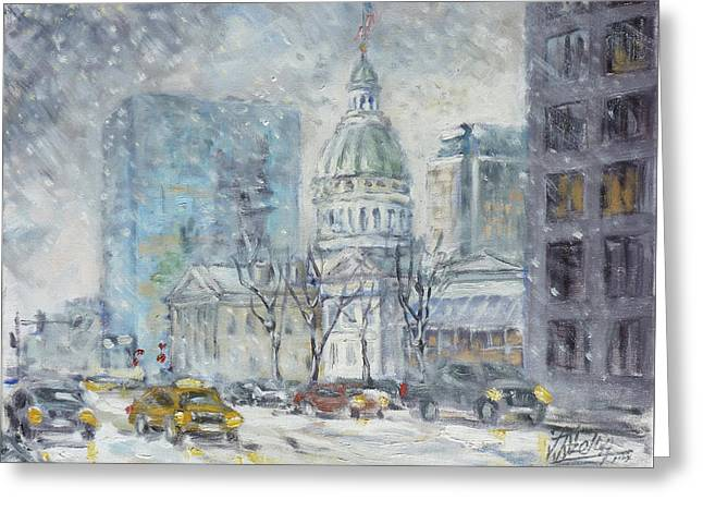 Old Courthouse From N 4th St. St.louis Greeting Card