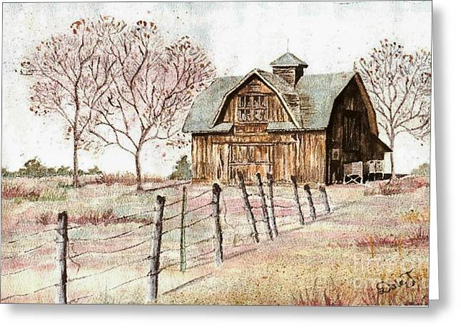 Old Crawford Colorado Barn Greeting Card