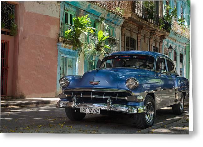 Old Cuban Car Greeting Card by Blaz Gvajc