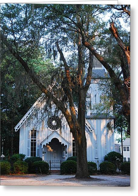 Old Cypress Church Greeting Card by Margaret Palmer