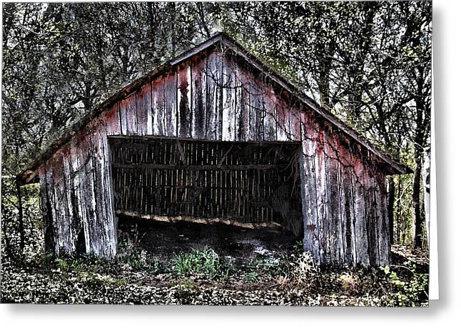 Dave Greeting Cards - Old Daves Front Barn Greeting Card by Dennis Sullivan