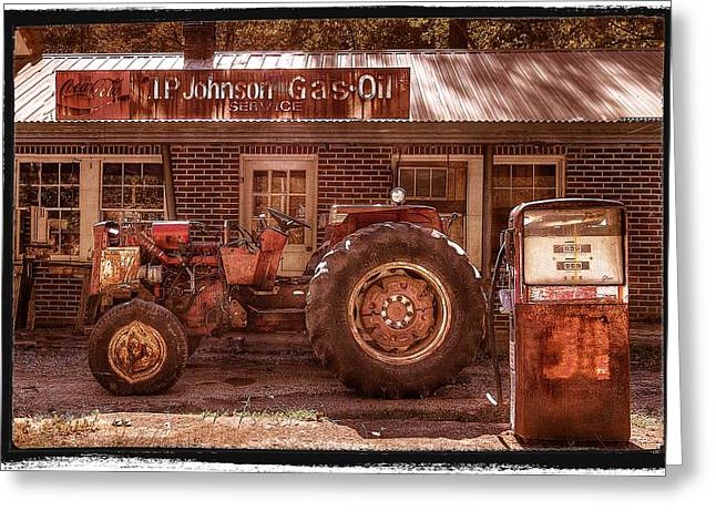 Chalmers Greeting Cards - Old Days Vintage Greeting Card by Debra and Dave Vanderlaan