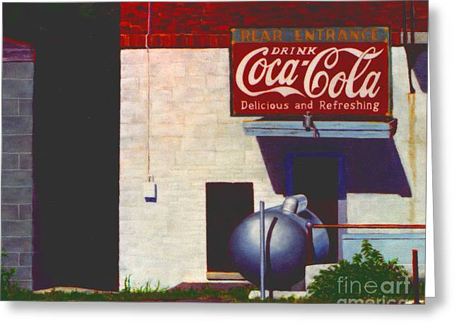 Greeting Card featuring the painting Old Deli by Robert Henne