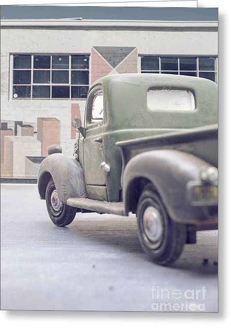 Old Delivery Truck Greeting Card by Edward Fielding