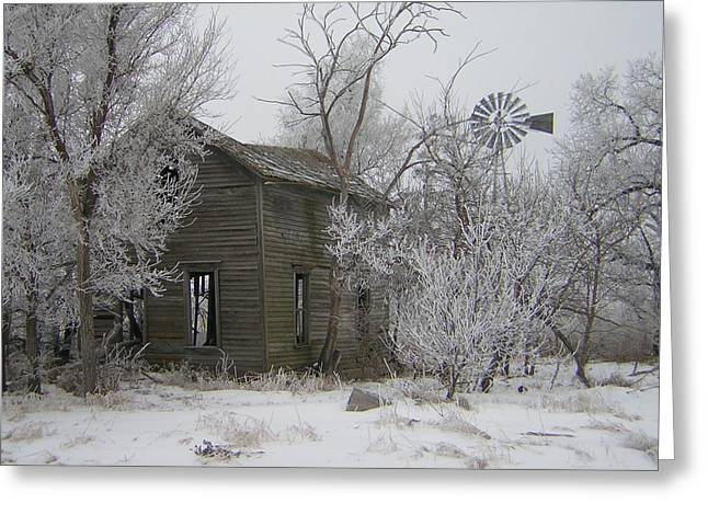 Old Deserted Farmstead Greeting Card by Deena Keller