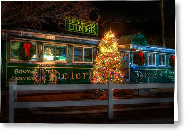 Old Diner Car - Peterboro Diner Greeting Card by Joann Vitali