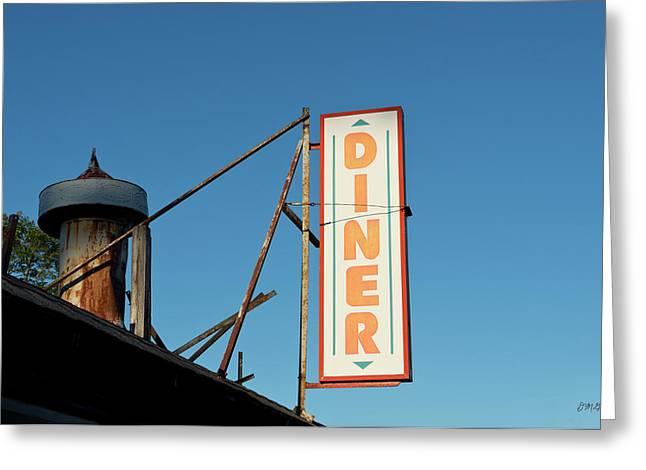Old Diner I Color Greeting Card by David Gordon