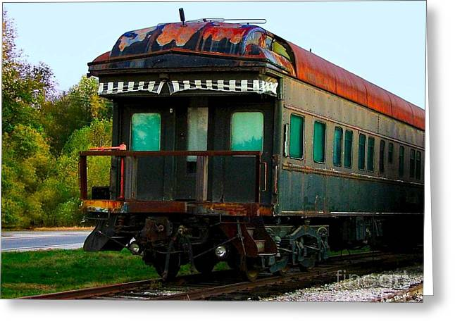 Old Dining Car Greeting Card by Julie Dant