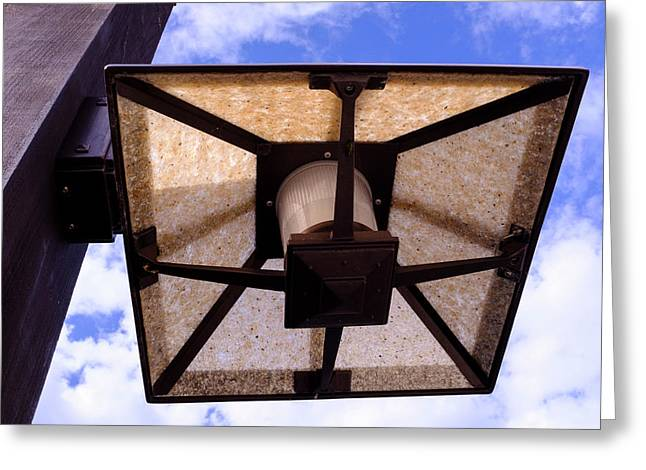 Old Dirty Light Fixture In Orlando Florida Greeting Card