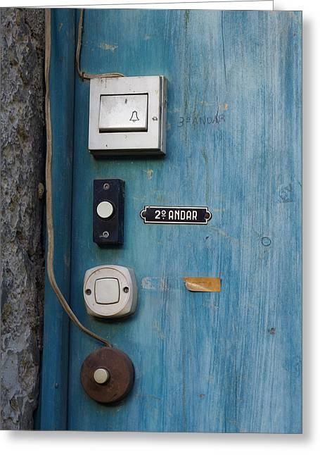 Old Door Bells Greeting Card