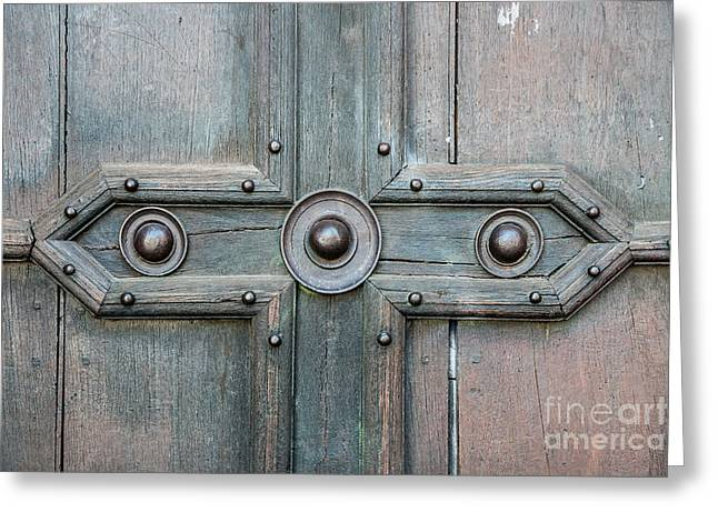 Old Door Detail Greeting Card