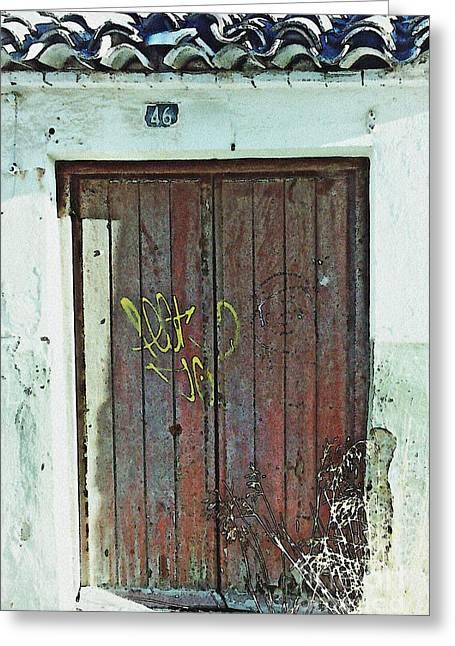 Old Door In Alcantarilla Greeting Card by Sarah Loft