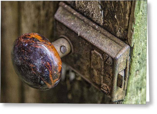 Old Door Knob Greeting Card by JRP Photography