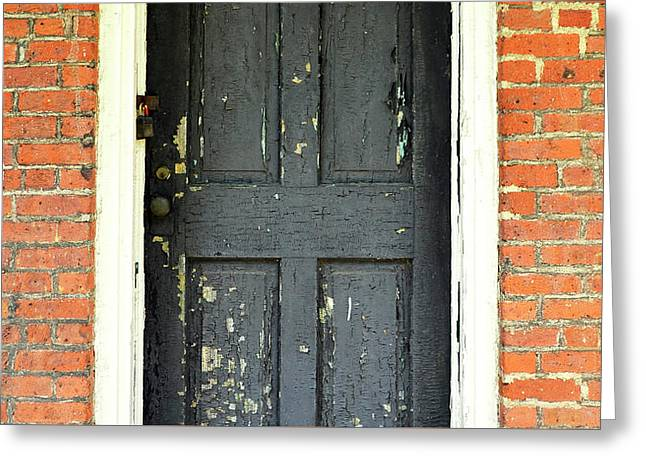 Greeting Card featuring the photograph Old Door by Zawhaus Photography