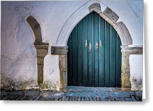 Old Doorway In Monsaraz Greeting Card