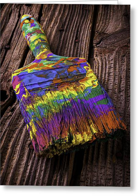 Old Dried Paintbrush Greeting Card by Garry Gay