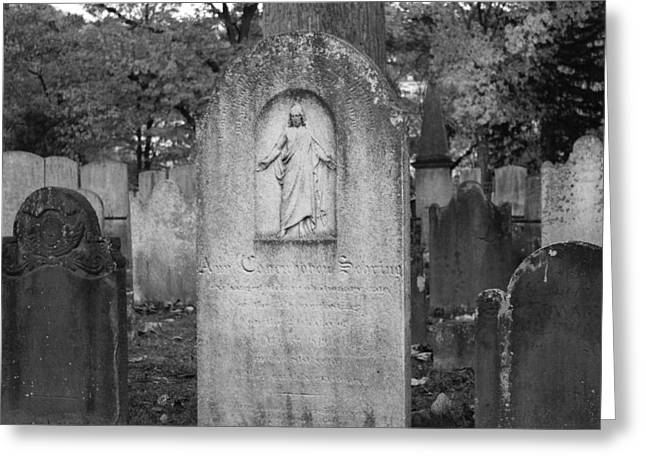 Old Dutch Cemetery Tombstones Greeting Card by Colleen Kammerer