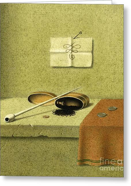Old Dutch Pipe Greeting Card