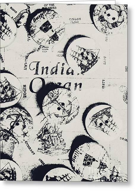 Old East India Trading Routes Greeting Card