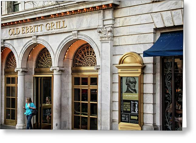 Old Ebbitt Grill Greeting Card by Chrystal Mimbs