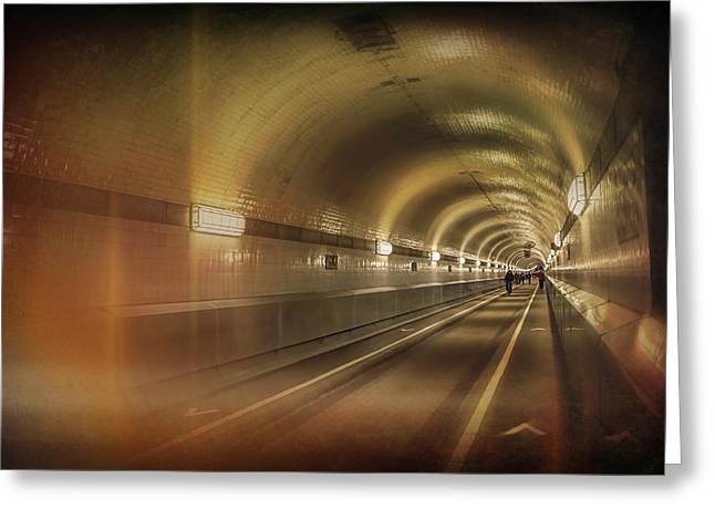 Old Elbe Tunnel Hamburg  Greeting Card