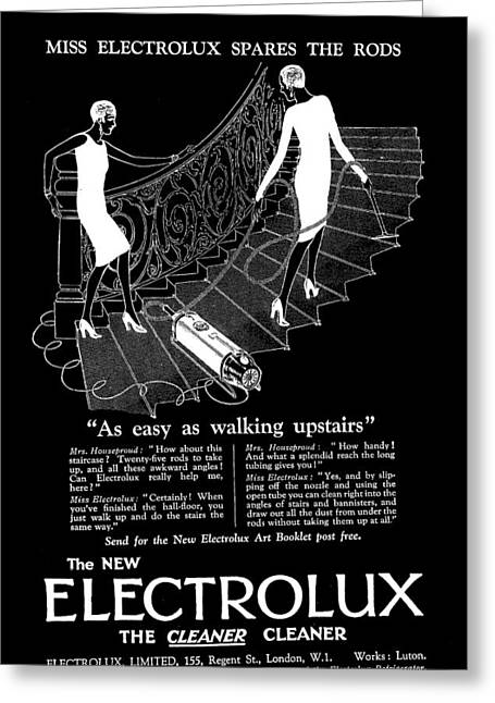 Old Electrolux Vacuum Cleaner Advert Greeting Card by James Hill