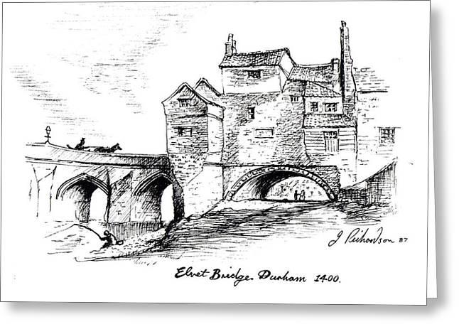 Old Elvit Bridge  Durham Greeting Card by James Richardson