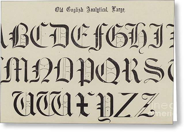 Old English Font Greeting Card