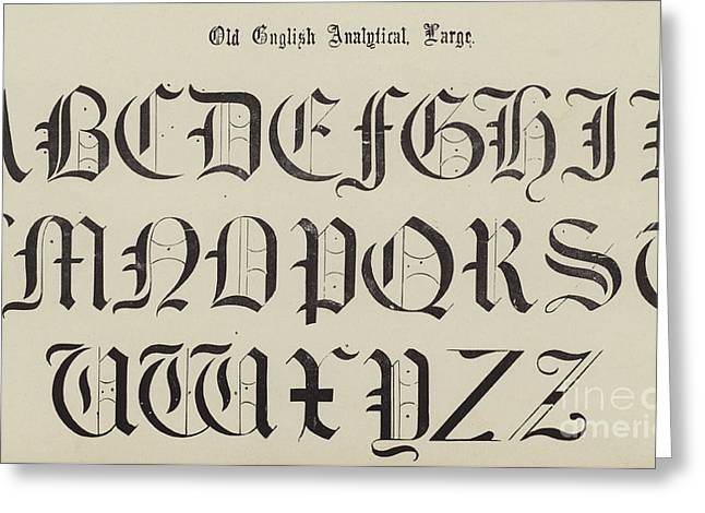 Old English Font Greeting Card by English School