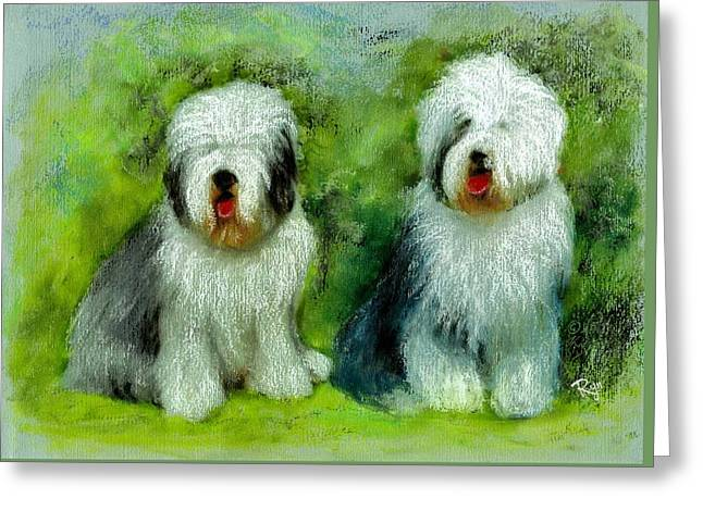 Old English Sheepdog Greeting Card
