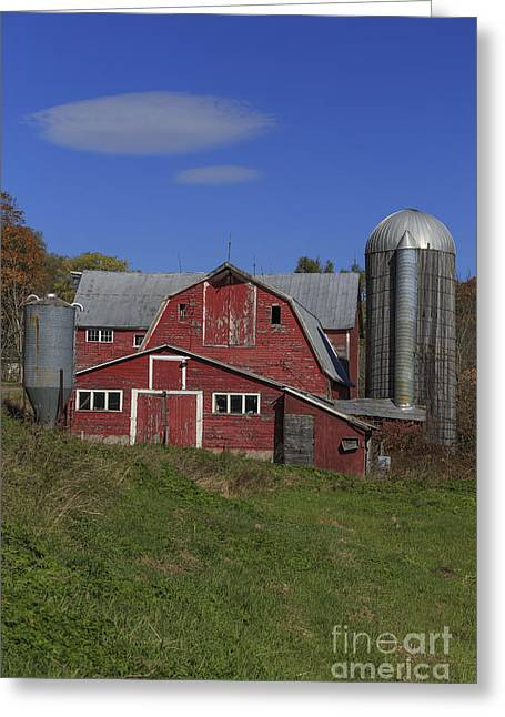 Old Family Farm Vermont Greeting Card by Edward Fielding
